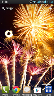 New Year Free Fireworks LWP - screenshot thumbnail