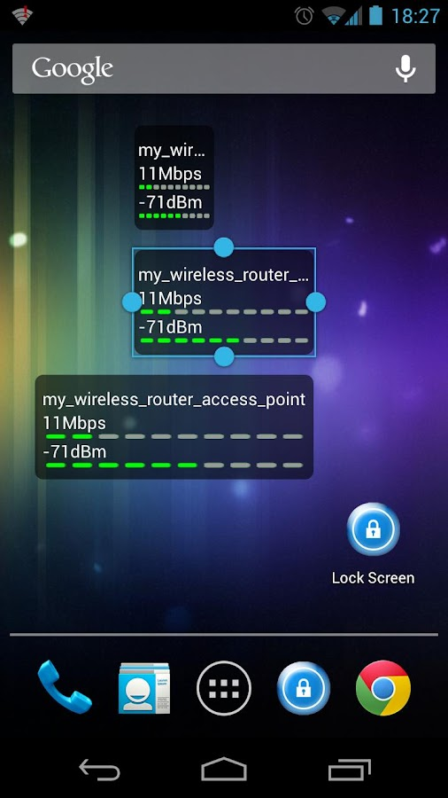 WiFi Status(Link Speed) Widget - screenshot