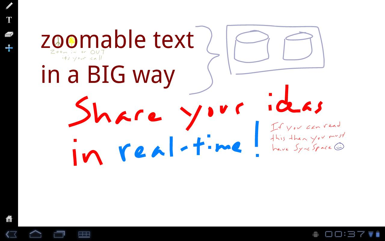 SyncSpace Shared Whiteboard- screenshot