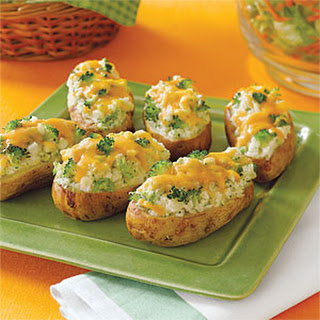 Broccoli-and- Cheese-Stuffed Baked Potatoes.
