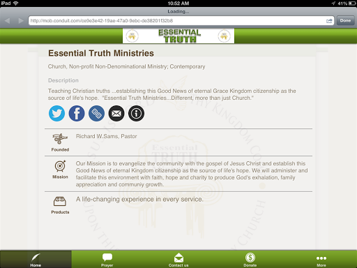 【免費生活App】Essential Truth Ministries-APP點子