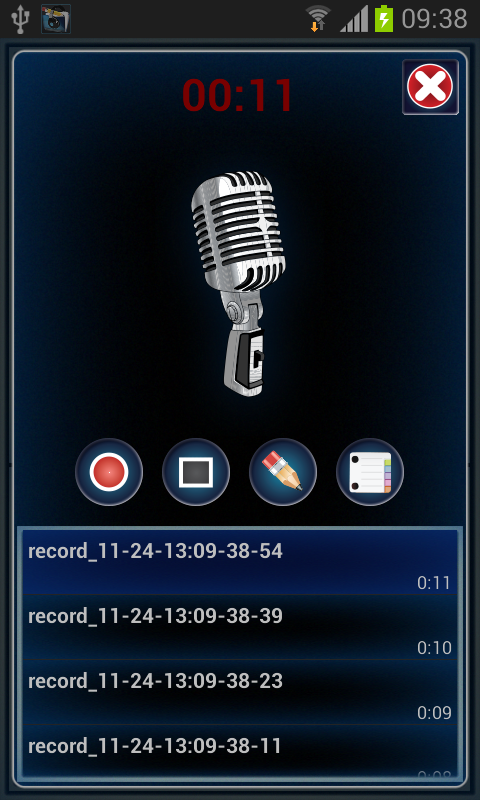 Audio Note Player - screenshot