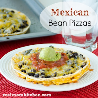 Mexican Bean Pizza