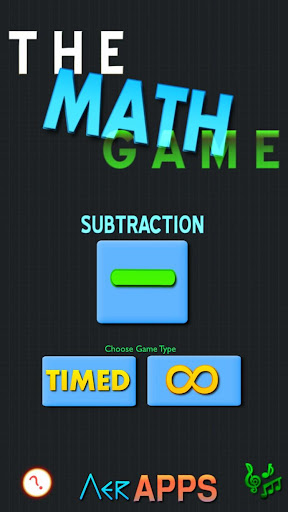 The Math Game - Subtraction