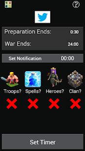 Clash War Timer
