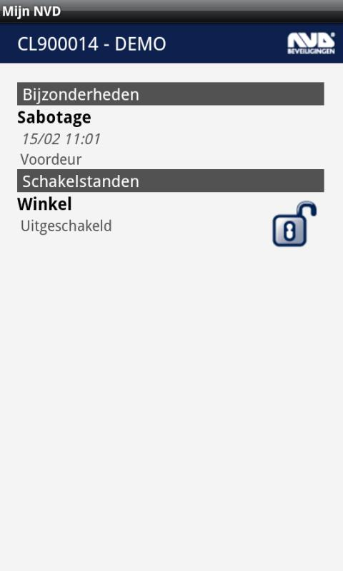 Mijn NVD - screenshot