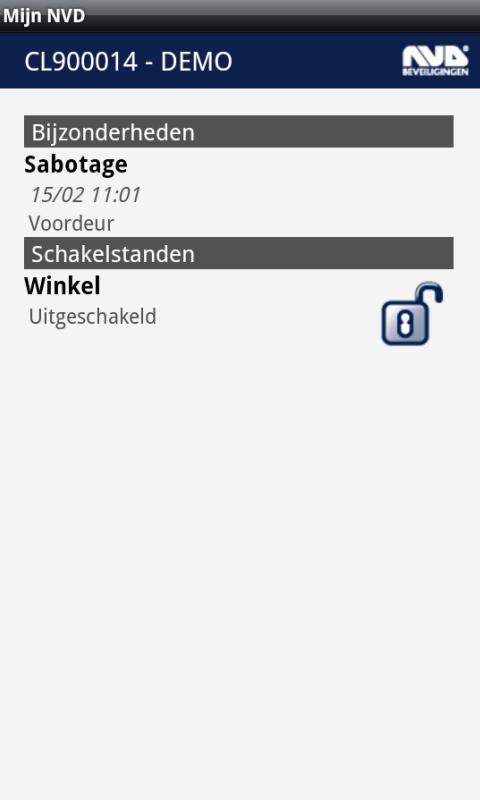 Mijn NVD- screenshot