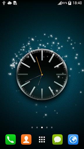动态壁纸黑色时钟