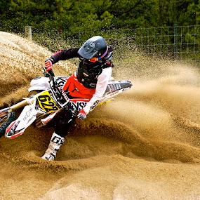 Sand Blasting by Zachary Zygowicz - Sports & Fitness Motorsports ( sand, motocross, racing, motorcycle, dirt bike )
