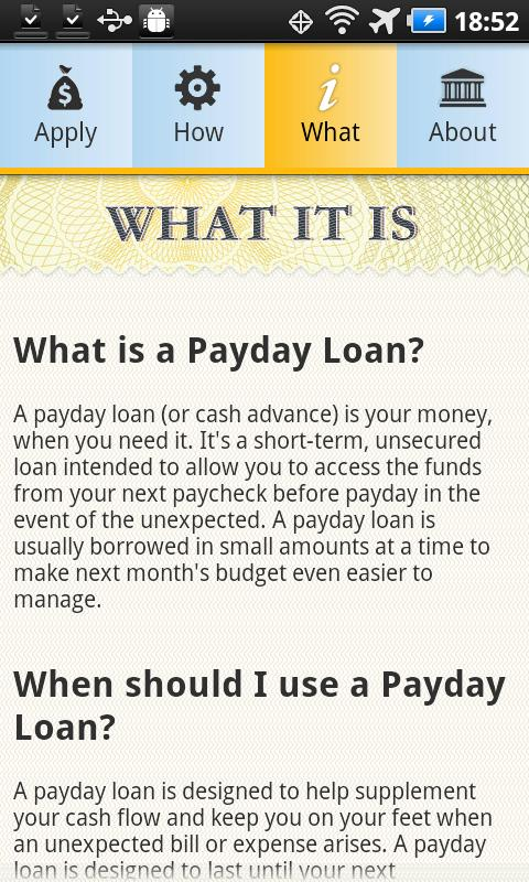 Payday Loans & Cash Advance - screenshot