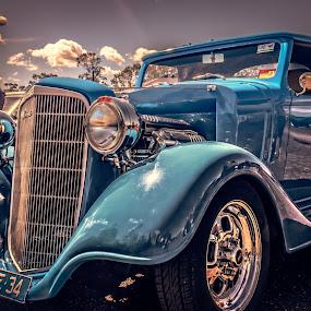 Blue Vintage by Esther Visser - Transportation Automobiles (  )