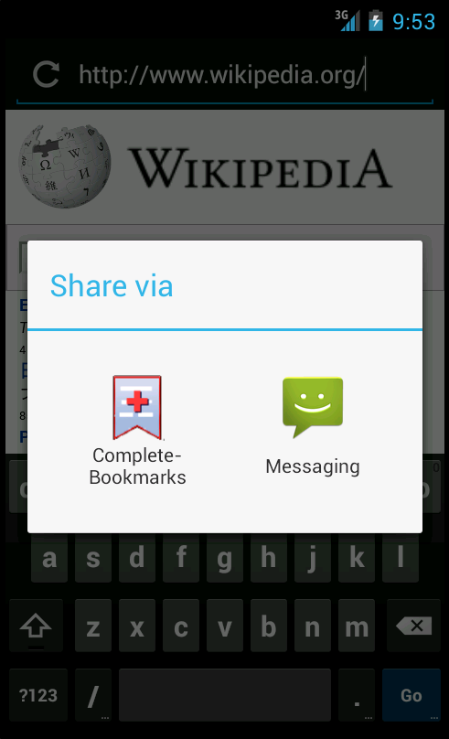 Complete Bookmarks- screenshot