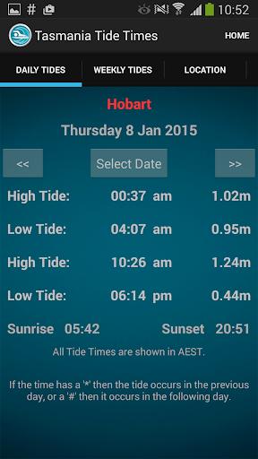 Tasmania Tide Times