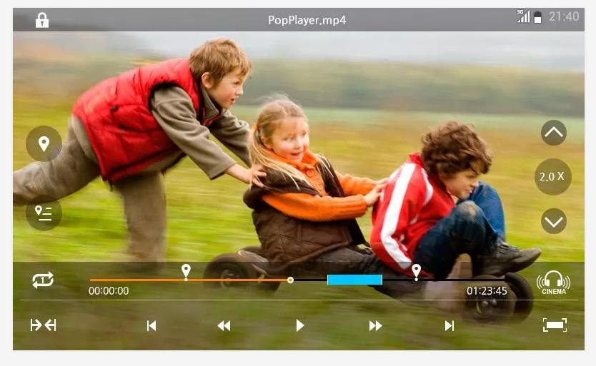 PopPlayer-Full HD Media Player - screenshot