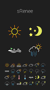 COLOR WEATHER ICONS FOR HDW screenshot 1