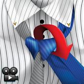 Tie Knots in split color video