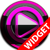 Poweramp widget BLACK Pink