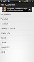 Screenshot of FREE Lottery Quick Pick