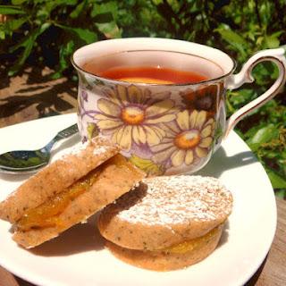 Lemon Verbena Shortbread Sandwich Cookies.