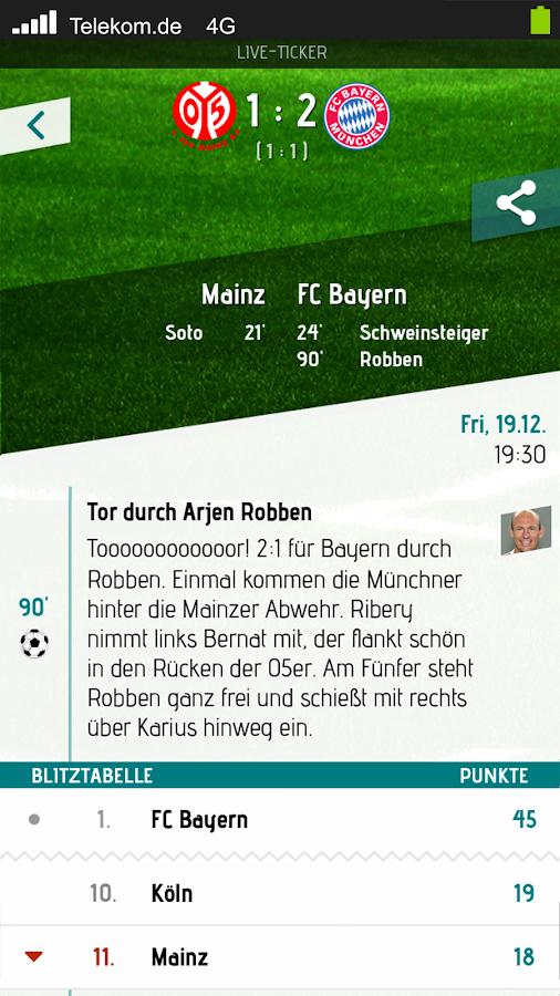 Herzrasen Fußball Live Ticker - screenshot