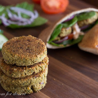 Baked Falafels with Red Lentils