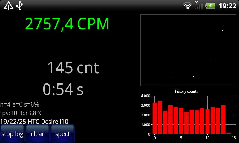 Radioactivity Counter Lite - screenshot