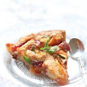 Peach Verbena Clafoutis Recipe (Christophe Michalak)