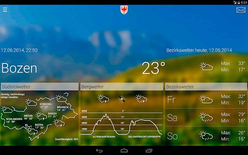 Wetter Südtirol - screenshot thumbnail