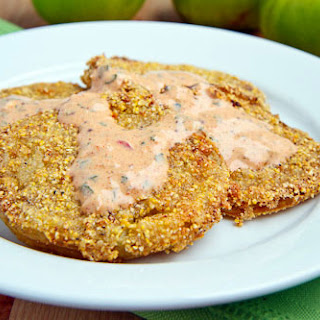 Buttermilk Marinated Fried Green Tomatoes.