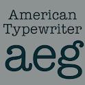 American Typewriter Flipfont icon