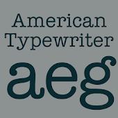 American Typewriter Flipfont