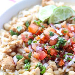 White Chicken Chili Rice Bowl.