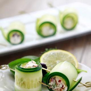 Cucumber Feta Rolls.