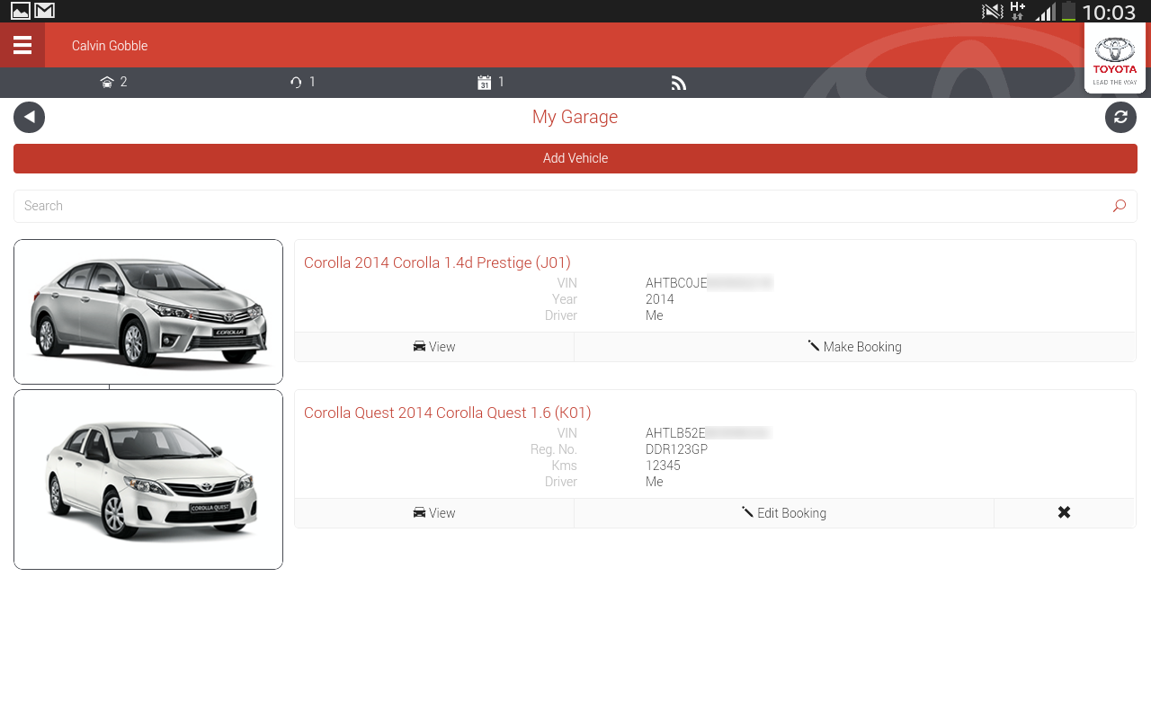 Mytoyota screenshot
