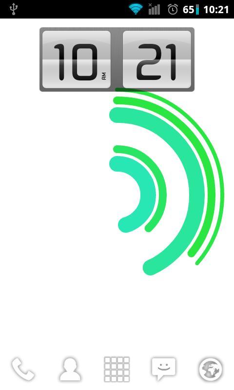 Animating Flip Clock Widget- screenshot