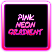 Pink Neon Gradient Keyboard