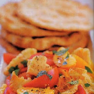 Lebanese Bread and Tomato Salad.