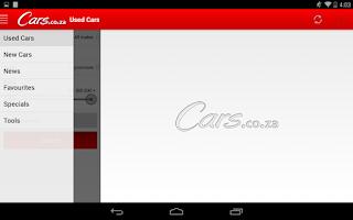 Screenshot of Cars.co.za
