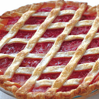 Rhubarb Lattice Pie with Cardamom and Orange