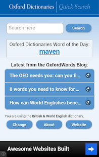 Oxford Dictionaries – Search- screenshot thumbnail