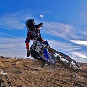 1-00 by Zachary Zygowicz - Sports & Fitness Motorsports ( scrub, motocycle, motocross, dirtbike, whip )