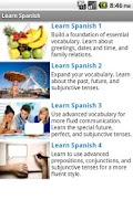 Screenshot of LearnSpanish