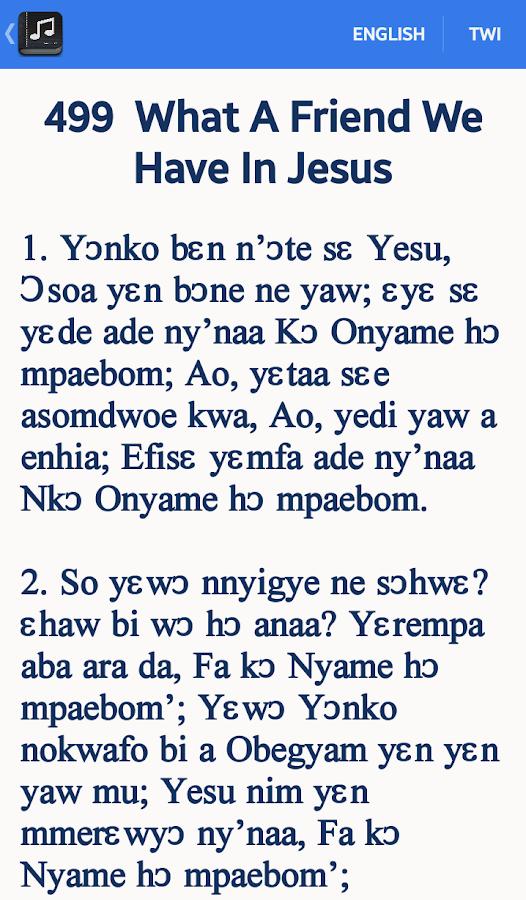 Twi SDA Hymnal - screenshot