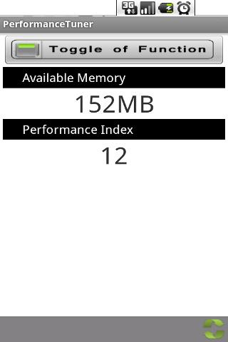 Performance Tuner- screenshot