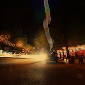 BLURINESS by Muhammad Fadhil - City,  Street & Park  Night