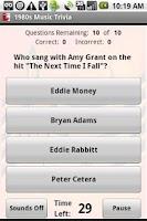 Screenshot of 1980s Music Trivia