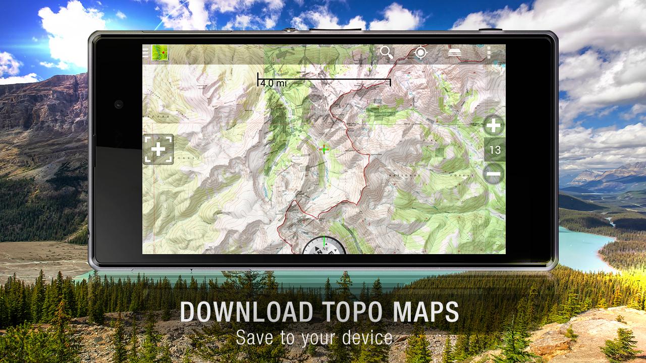 BackCountry Navigator TOPO GPS - screenshot