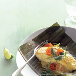 Banana-Leaf-Wrapped Grouper with Curry Sauce.