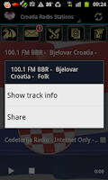 Screenshot of Croatia Radio Music & News