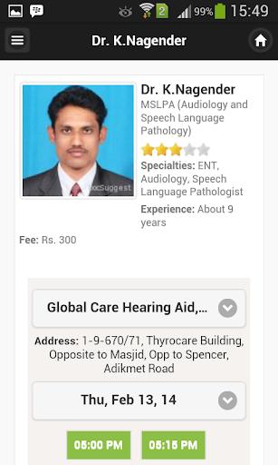 Dr K.nagender Appointments